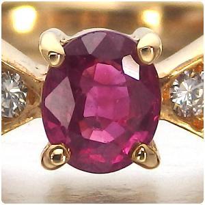 ルビー 指輪 K18 イエローゴールド ルビー リボン リング 0.43ct|jewelry-sindbad|02