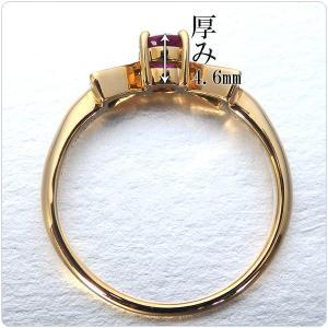 ルビー 指輪 K18 イエローゴールド ルビー リボン リング 0.43ct|jewelry-sindbad|04