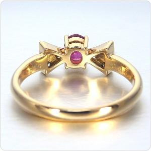 ルビー 指輪 K18 イエローゴールド ルビー リボン リング 0.43ct|jewelry-sindbad|05