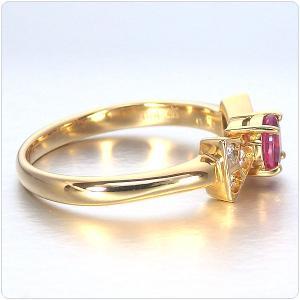 ルビー 指輪 K18 イエローゴールド ルビー リボン リング 0.43ct|jewelry-sindbad|06