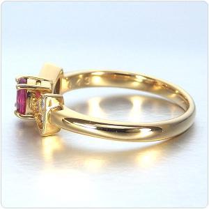 ルビー 指輪 K18 イエローゴールド ルビー リボン リング 0.43ct|jewelry-sindbad|07