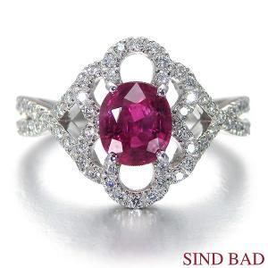 ルビー 指輪 プラチナ リング 1.072ct 中央宝石研究所鑑別書付き|jewelry-sindbad