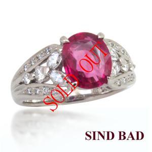 ルビー 指輪 プラチナ リング 1.241ct|jewelry-sindbad