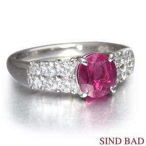 ルビー 指輪 プラチナ リング 1.445ct|jewelry-sindbad