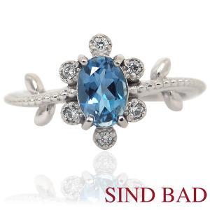 サンタマリアアクアマリン 指輪 プラチナ リング 0.477ct|jewelry-sindbad