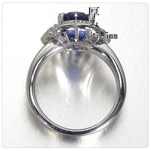 非加熱サファイア 指輪 プラチナ リング 3.825ct ダイヤ 0.898ct 中央宝石研究所分析結果報告書付き|jewelry-sindbad|04