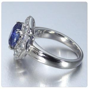 非加熱サファイア 指輪 プラチナ リング 3.825ct ダイヤ 0.898ct 中央宝石研究所分析結果報告書付き|jewelry-sindbad|05