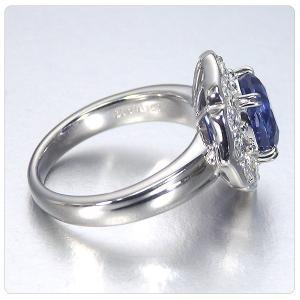非加熱サファイア 指輪 プラチナ リング 3.825ct ダイヤ 0.898ct 中央宝石研究所分析結果報告書付き|jewelry-sindbad|06