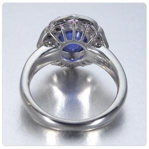 非加熱サファイア 指輪 プラチナ リング 3.825ct ダイヤ 0.898ct 中央宝石研究所分析結果報告書付き|jewelry-sindbad|07