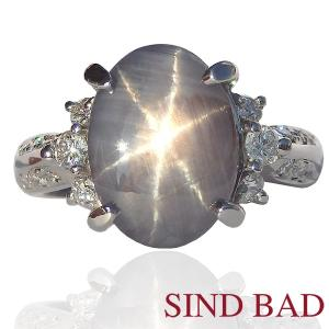 スターサファイア 指輪 プラチナ リング 5.01ct|jewelry-sindbad