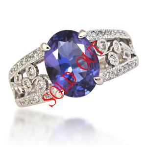 タンザナイト 指輪 プラチナ リング 1.61ct|jewelry-sindbad