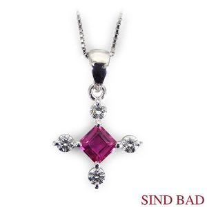 ルビー プラチナ ペンダント ヘッド ルビー 0.37ct ダイヤ 0.17ct|jewelry-sindbad