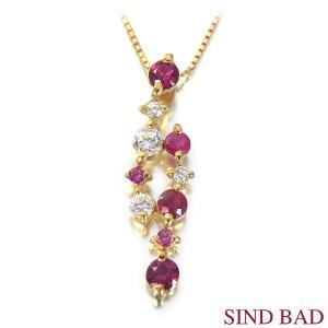 スイートテン ルビー ネックレス K18 ペンダント 0.3ct ダイヤモンド 0.1ct 【スイート10 ペンダント】|jewelry-sindbad