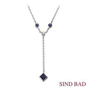 サファイア ネックレス プラチナ ペンダント サファイヤ 0.512ct ダイヤ 0.05ct|jewelry-sindbad