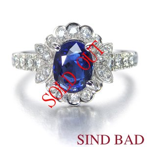 非加熱サファイア 指輪 プラチナ リング サファイヤ 1.622ct ダイヤ 0.34ct 中央宝石研究所鑑別書付き|jewelry-sindbad