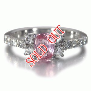 パパラチャサファイア 指輪 パパラチア サファイヤ プラチナ リング 0.634ct ダイヤモンド0.442ct DGL鑑別書付き|jewelry-sindbad