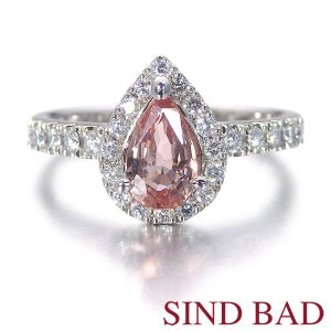 パパラチャサファイア 指輪 プラチナ パパラチア サファイヤ リング 0.815ct 中央宝石研究所鑑別書付き|jewelry-sindbad