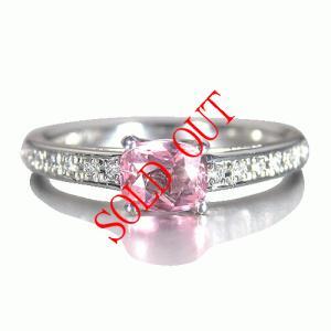 パパラチャサファイア 指輪 パパラチア サファイヤ プラチナ リング 0.436ct  DGL鑑別書付き|jewelry-sindbad