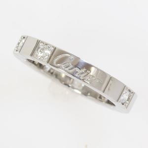 Cartier(カルティエ) ラニエール ハーフダイヤ リング ダイヤモンド 7号 47 18金ホワイトゴールド(K18WG) コフレ付 【中古】ブランド ジュエリー|jewelry-total