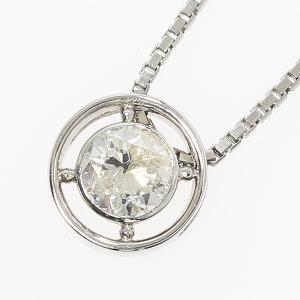 一粒石 ダイヤモンド 0.52ct ネックレス プラチナ(Pt850) 【中古】 ジュエリー 【新品仕上げ済み】|jewelry-total