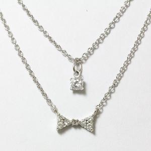 Brilliant Arrow(ブリリアントアロー) ネックレス リボン キュービック シルバー(SV925) 【中古】 ジュエリー jewelry-total
