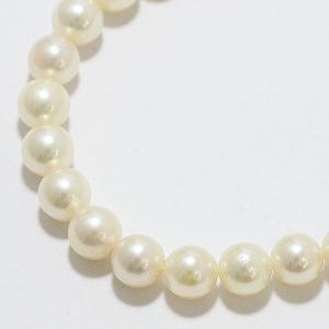 アコヤ 本真珠 パール 約6.0-6.5mm 連ネックレス シルバー(SILVER) 【中古】 ジュエリー 【新品仕上げ済み】|jewelry-total