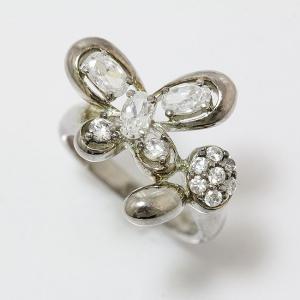 FolliFollie(フォリフォリ) リング 蝶 キュービック 9号 シルバー(SV925) 【中古】 ジュエリー jewelry-total