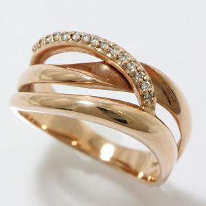 ダイヤモンド 計0.08ct リング 11号 10金ピンクゴールド(K10PG) 【中古】ジュエリー 【新品仕上げ済み】|jewelry-total