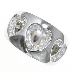 ハート ダイヤモンド 計0.21ct リング 12号 プラチナ(Pt900)   【中古】ジュエリー 【新品仕上げ済み】|jewelry-total