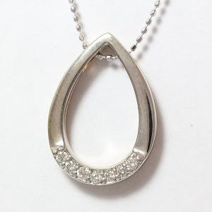 ダイヤモンド 計0.14ct ネックレス  18金ホワイトゴールド(K18WG)/18金ピンクゴールド(K18PG)   【中古】 ジュエリー 【新品仕上げ済み】 jewelry-total