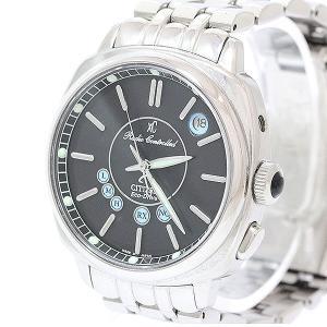 CITIZEN(シチズン) XC クロスシー エコドライブ H412-T006850 TA 黒 ブラック ステンレススチール(SS) ソーラー電波 メンズ  【中古】 腕時計|jewelry-total