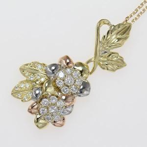 フラワー ダイヤモンド 計1.00ct  18金イエローゴールド(K18YG)/プラチナ(Pt900)   【中古】 ジュエリー 【新品仕上げ済み】net shop jewelry-total