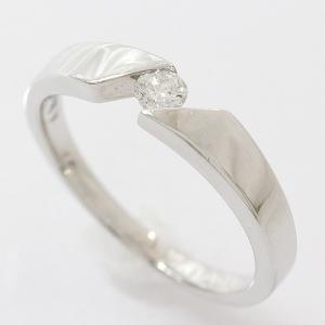 リング  ダイヤモンド 0.13ct 12号 18金ホワイトゴールド(K18WG)   【中古】 ジュエリー 【新品仕上げ済み】net shop jewelry-total
