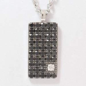 Ponte Vecchio(ポンテヴェキオ)   ブラックダイヤモンド 総計3.37ct  18金ホワイトゴールド(K18WG)  パヴェ 【中古】 ジュエリー 【新品仕上げ済み】net shop|jewelry-total