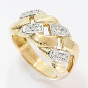 ダイヤモンド 計0.13ct リング 11号 18金イエローゴールド(K18YG)/プラチナ(Pt900)   【中古】ジュエリー 【新品仕上げ済み】 jewelry-total