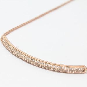 FolliFollie(フォリフォリ) SVブレスレット    シルバー(SV925) ピンクゴールドメッキ   【中古】 ジュエリー net shop|jewelry-total