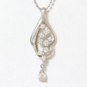 ダイヤモンド 計0.20ct ネックレス  プラチナ(Pt850/Pt900)   【中古】 ジュエリー 【新品仕上げ済み】 netshop|jewelry-total
