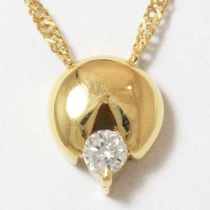 ダイヤモンド 0.10ct ネックレス  18金イエローゴールド(K18YG)   【中古】 ジュエリー 【新品仕上げ済み】 netshop jewelry-total