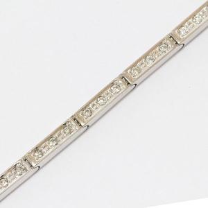 ダイヤモンド 計0.53ct ブレスレット  18金ホワイトゴールド(K18WG)   【中古】 ジュエリー 【新品仕上げ済み】 netshop|jewelry-total