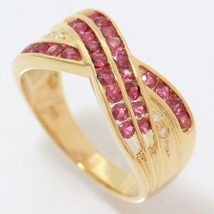 ルビー/ダイヤモンド リング 13号 18金イエローゴールド(K18YG)   【中古】ジュエリー 【新品仕上げ済み】 netshop|jewelry-total