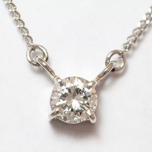 一粒石 ダイヤモンド 0.359ct ネックレス  プラチナ(Pt850)   【中古】 ジュエリー 【新品仕上げ済み】 netshop jewelry-total