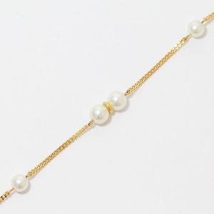 真珠  パール 直径約 4.4mm ブレスレット  18金イエローゴールド(K18YG)   【中古】 ジュエリー 【新品仕上げ済み】 netshop|jewelry-total