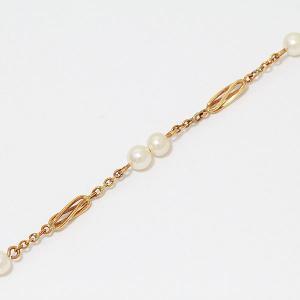 真珠  パール 直径約 3.5mm ブレスレット  18金イエローゴールド(K18YG)   【中古】 ジュエリー 【新品仕上げ済み】 netshop|jewelry-total