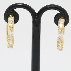 フープ キュービック ピアス  18金イエローゴールド(K18YG)   【中古】 ジュエリー 【新品仕上げ済み】 netshop jewelry-total