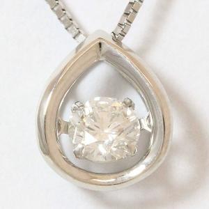 ネックレス 鑑定書付き E/VS2/EX ダンシングストーン ダイヤモンド 0.304ct  プラチナ(Pt850/Pt900)   【中古】 ジュエリー 【新品仕上げ済み】netshop|jewelry-total