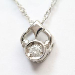 一粒 ダイヤモンド 0.05ct ネックレス  プラチナ(Pt850/Pt900)   【中古】 ジュエリー 【新品仕上げ済み】 netshop jewelry-total