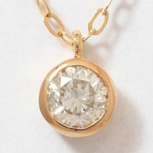一粒 ダイヤモンド 0.20ct ネックレス  18金ピンクゴールド(K18PG)   【中古】 ジュエリー 【新品仕上げ済み】 netshop jewelry-total