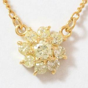 ダイヤモンド 計0.30ct ネックレス  18金イエローゴールド(K18YG)   【中古】 ジュエリー 【新品仕上げ済み】 netshop jewelry-total