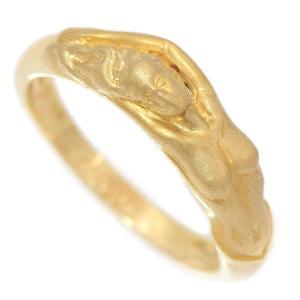 Carrera y Carrera(カレライカレラ) リング 人魚 マーメイド  12号 18金イエローゴールド(K18YG)   【中古】 ジュエリー 【新品仕上げ済み】netshop jewelry-total