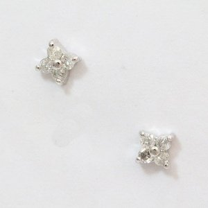 ダイヤモンド 各計0.04ct ピアス  18金ホワイトゴールド(K18WG)   【中古】 ジュエリー 【新品仕上げ済み】 netshop|jewelry-total
